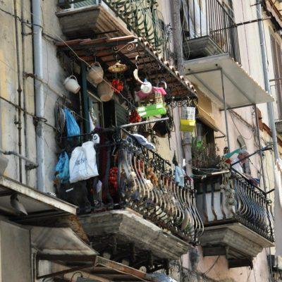 Naples balcony street