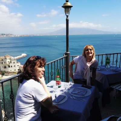 Panoramic restaurant Naples Italy